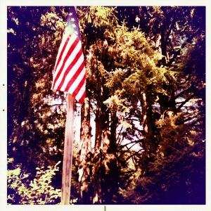 the flag over fort clatsop