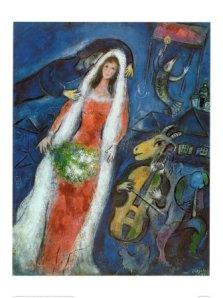 Marc Chagall, La Mariee